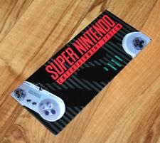 1991 SNES Nintendo Ad Flyer Poster Super Mario World Console F-Zero Tennis Zelda