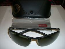 Ray Ban RB 8305 Carbon Fiber Sunglasses Polarized P3 Lens Italy Excellent