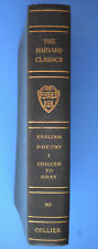 ENGLISH POETRY 1 CHAUCER TO GRAY Harvard Classics #40 Collier Green HC 1910