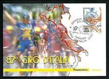 87° Giro d'Italia - Cartolina Filatelica Ufficiale Poste Italiane - 1999