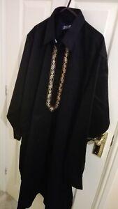 Mens Shalwar Kameez Pakistani/ Indian Suit Black High Quality heavy Fabric Large