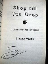 Elaine Viets Shop Till You Drop signed 2003 paperback Florida Mystery