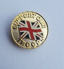Support Our Troops Badge Enamel Pin Badge Oi!