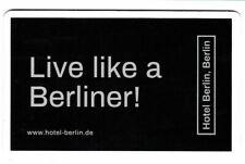 Hotel - Schlüßelkarte   Hotel Berlin