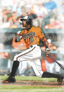 NEW & RARE Adam Jones Baltimore Orioles Art Print 12x18 s/n by artist