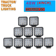 10x 48W LED Work Light Spot Headlight Driving SUV JEEP Offroad pickup Boat 12V
