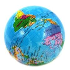 World Atlas Geography Map Earth Globe Stress Relief Bouncy Foam Ball Child's Toy