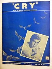 JOHNNIE RAY Sheet Music CRY Mellow Music Publ. 1951 Rock N Roll POP VOCAL LC