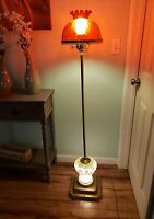 Vintage Floor Lamp Ef Ef industries Brass Base Bottom Lights up also