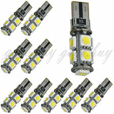 10 x T10 9 SMD 5050 Canbus Error Free Car LED SMD Light Interior Bulb White New