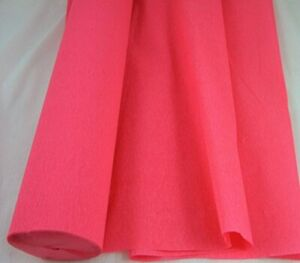 1 Salmon Pink Large Crepe Paper Roll  26metres x 50cm by shop@clikkabox