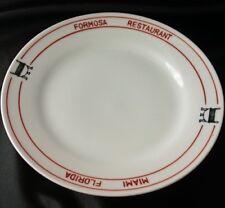 Vintage FORMOSA RESTAURANT S Miami Luncheon Plate