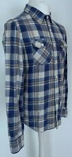 Mens SuperDry Super Dry Blue Checked 100% Cotton Lumberjack Shirt Size Large