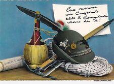 #  militari -ALPINI:  CONGEDO- ADDIO CASERMA MIA ..CAPPELLO SCARPONI E..VINO (2)