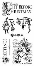 Graphic 45 CHRISTMAS stamp 6p Vintage Victorian Steampunk Santa Night Kringle