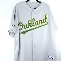 Vintage Oakland Athletics Jersey Road Gray Majestic MLB Size XXL