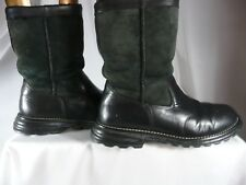 Ugg 7 Brooks Black Durable Real Leather Boots Shearling Sheepskin 5381