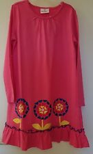 * NWT * Hanna Andersson Pink Floral Screen Print Dress ~ Girl's 150, 11-13