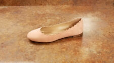 New! Chloé 'Lauren' Scalloped Ballet Flats Pink Womens 4.5 US 34.5 Eur MSRP $515