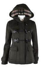 New Burberry Women's $1,000 BLACKWELL Wool Hooded Short Duffle Coat Jacket 6 40