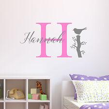 Personalizado Pájaro Adhesivo de Pared Infantil dormitorio decoración