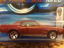 HOT WHEELS 2005-018 FIRST EDITIONS REALISTIX '69 PONTIAC GTO 18/20 RED 5SP