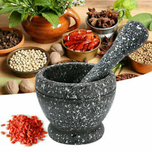 Pestle and Mortar Set Stoneware Herbs Spices Pepper Paste Garlic  UK