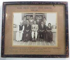 Antique Group CAMERA PHOTO B&W original wood frame dated 1951-52 Gandhi Dress