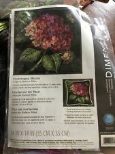 NEW Needlepoint Kit Dimensions Hydrangea Bloom Flowers Pillow #20053