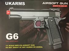 REPLICA 1:1 G6 FULL METAL SPRING AIRSOFT GUN PISTOL   FREE BB'S 2000 BULLETS