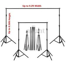 Collapsible Background Support Stand Kit Adjustable Crossbars Photography Holder