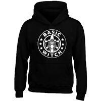 Basic Witch Unisex HOODIE Halloween Design Funny Boo Sweatshirt Hoodie