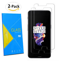 """For OnePlus 5 5.5"""" 2017 - 2-Pack Tempered Glasses Screen Guard Protector Film"""