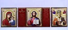Ikone Gottesmutter Jesus Nikolaus икона Богородица Иисус Николай 40,5x12x0,5 cm