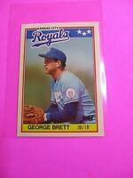 1988 Topps TIFFANY, UK American Baseball Mini,  MINT, George Brett #7, Rare!