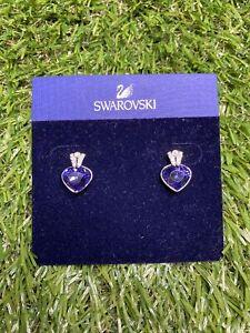 Swarovski crystal blue drop earrings NEW