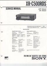 Istruzioni di servizio MANUAL LIBRETTO Sony xr-c500rds AEP MODEL UK MODEL casette (b616)