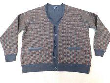 Men's Italian Merino blend chunky cardigan 2XL waist length to fit chest 46