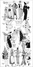 Halloween Costumes MASK BALL Domino CLOWN Fairy DUTCH Chinese 1923 Magazine Page