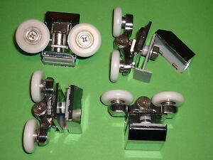 Shower Door Rollers, Wheels, Runners. 4 x SR49