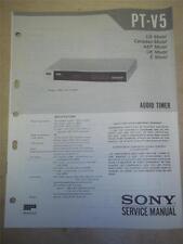 Sony Service Manual~PT-V5 Audio Timer~Original~Repair