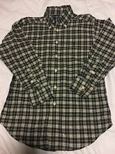 Polo Ralph Lauren Oxford Dress Button Plaid Shirt Boys Size 8 EUC