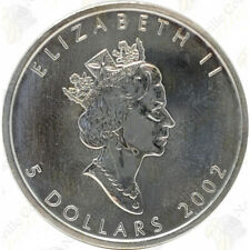 2002 CANADIAN SILVER MAPLE LEAF — 1 OZ — UNCIRCULATED — SKU #12014