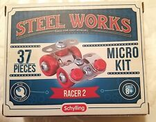 New Schylling Steel Works Construction Micro Set Kit 37 pcs RACER 2 ages 8+