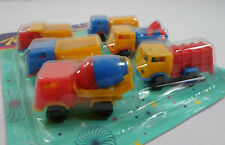 VTG 80's LOT OF 6 x 2'' TRUCKS PLASTIC TOY CARS PENNY TOYS KARAMPOLA LUCKY CUP E
