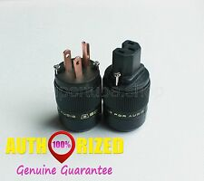 Black SONARQUEST BLK  Pure Red-Copper IEC Connector and US Plug power plug 1pair