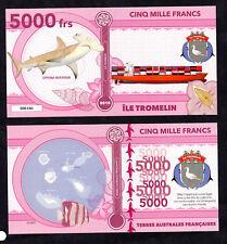 ★★★ ILE TROMELIN ● TAAF ● BILLET POLYMER 5000 FRANCS ★★ COLONIE FRANCAISE