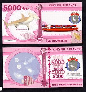 ★★ ILE TROMELIN ● TAAF ● BILLET POLYMER 5000 FRANCS ★★ COLONIE FRANCAISE