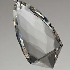 (1) 39mm Czech vintage hand multi faceted crystal glass pendant bead prism