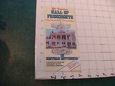 vintage Brochure: The Famous HALL OF PRESIDENTS gettysburg Pa,